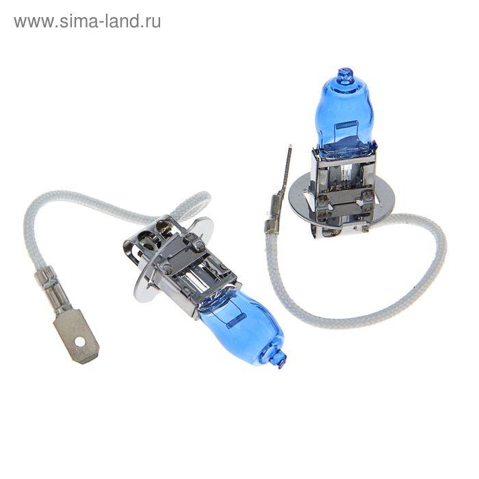 Комплект газонаполненных ламп TORSO H3 12 В, 100 Вт, 2300 лм, 6000 K, 2 шт., SUPER WHITE