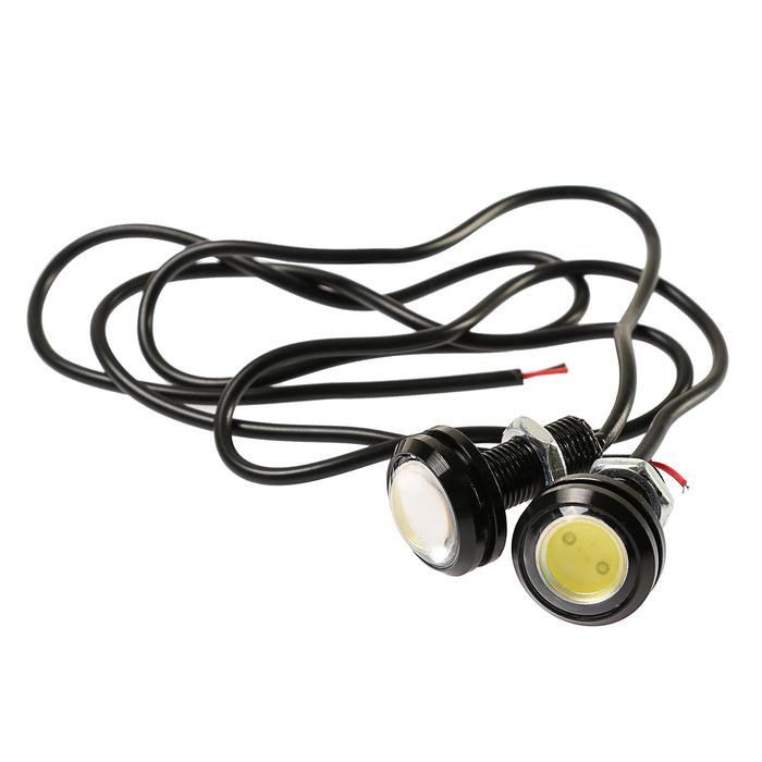 Дневные ходовые огни DRL-1-4-3, 1 LED-COB, 2 Вт, 12 В, 2 шт., металл, корпус черный