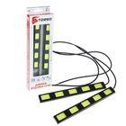 Дневные ходовые огни TORSO DRL-6-2, 5 LED-COB, 12 Вт, 12 В, 2 шт., металл, корпус черный