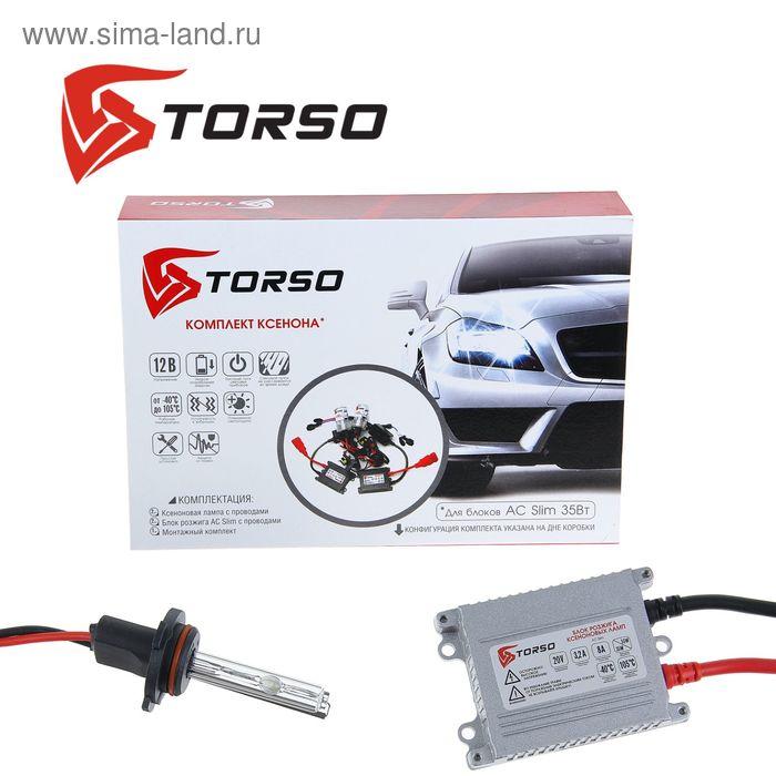 Комплект ксенона TORSO, блок розжига AC Slim, 35 Вт, 12 В, цоколь HB4(9006), 4300 К
