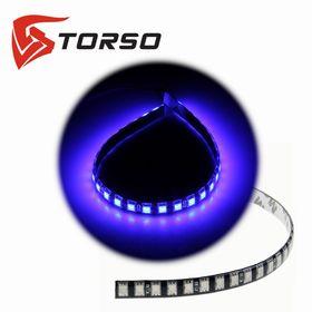 Светодиодная линейка TORSO, 30LED-SMD5050, 30 см, 12 В, IP65, 7.2 Вт, свет синий