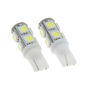 Autolamp led T10 W5W TORSO, envelope, 12V, 9 SMD 5050, 2 PCs, white light