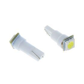 Автолампа светодиод TORSO Т5, панель приборов, 12 В, б/цок, 1 SMD-5050, 10 шт., свет белый