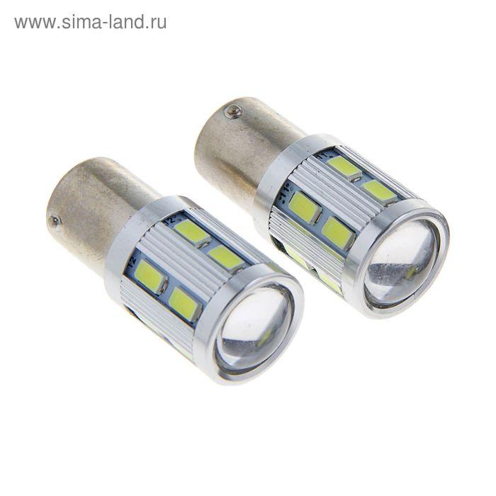 Комплект светодиодных ламп TORSO P21/W, 12 В, 12 SMD-5630 и LED-COB CREE, 3 Вт, 2 шт., белый