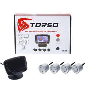 Парктроник TORSO TP-302, 4 датчика, LСD-экран, биппер, 12 В, датчики серебристые
