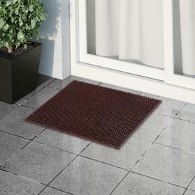 Покрытие ковровое щетинистое «Травка», 45×60 см, цвет тёмный шоколад