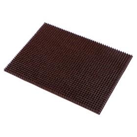 Покрытие ковровое щетинистое «Травка», 45×60 см, цвет тёмный шоколад - фото 4657200