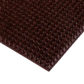 Покрытие ковровое щетинистое «Травка», 45×60 см, цвет тёмный шоколад - фото 4657202