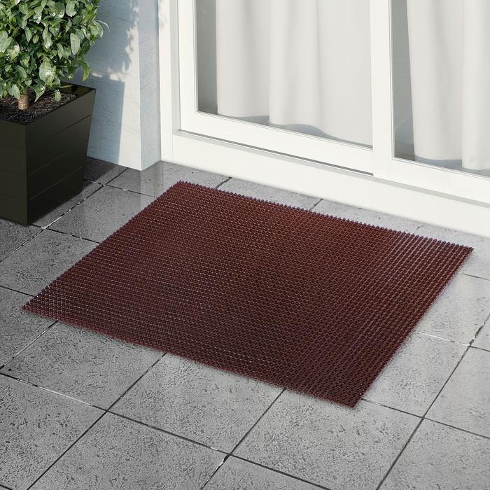 Покрытие ковровое щетинистое «Травка», 60×90 см, цвет тёмный шоколад - фото 4657204
