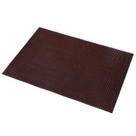 Покрытие ковровое щетинистое «Травка», 60×90 см, цвет тёмный шоколад - фото 4657205