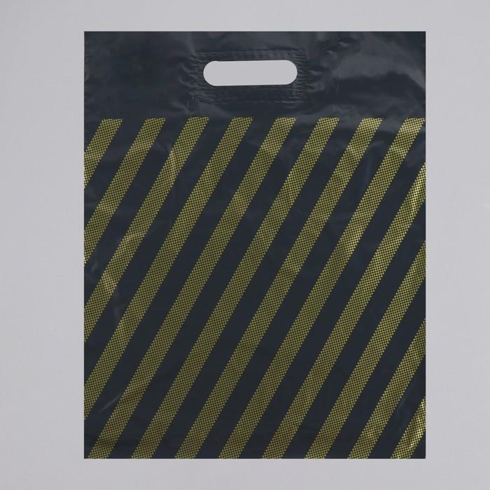"""Пакет """"Полоса, рейтер"""", полиэтиленовый с вырубной ручкой, 40 х 50 см, 50 мкм - фото 308983575"""