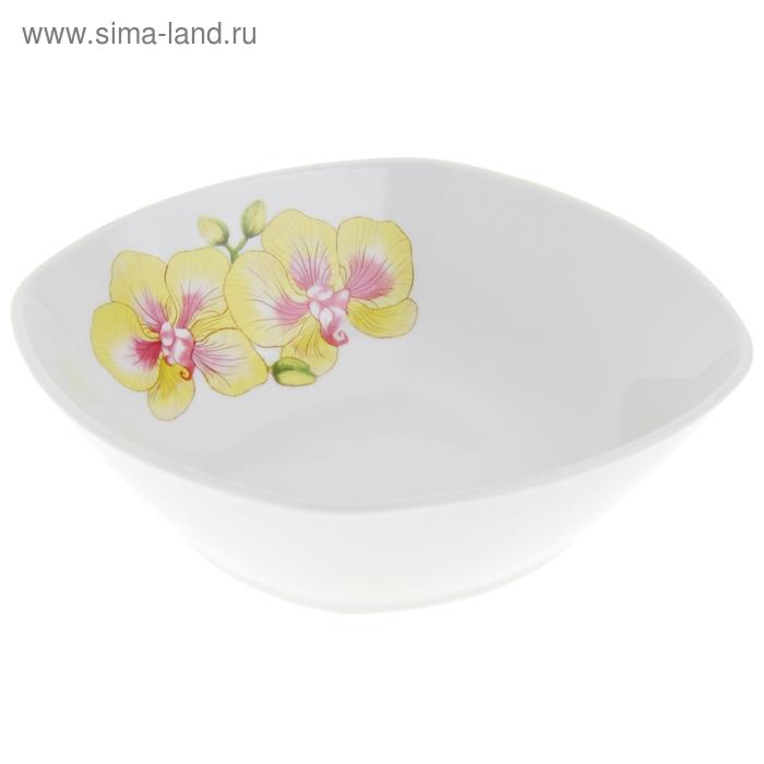 """Салатник квадратный 550 мл """"Орхидеи"""""""