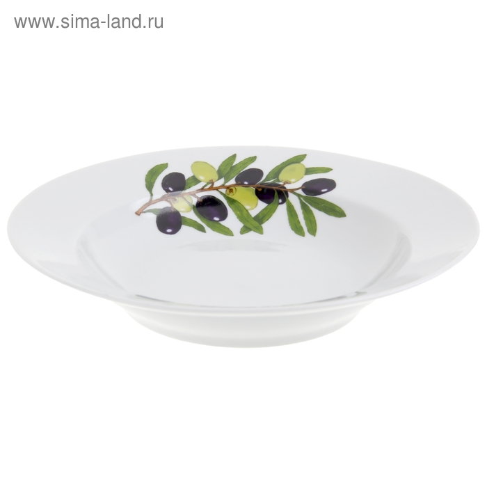 "Тарелка глубокая 24 см с гладким краем ""Оливки"""