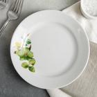 """Тарелка мелкая 17,5 см с гладким краем """"Орхидея зеленая"""""""