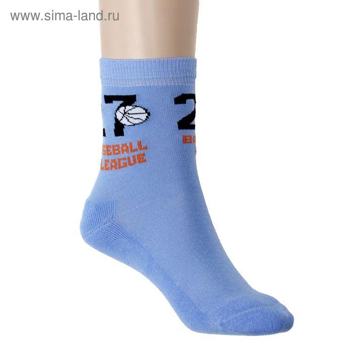 Носки детские плюшевые ПЛС107-2040, цвет голубой, р-р 20-22