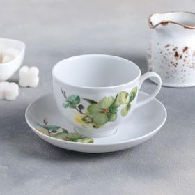 """Чайная пара 275 мл """"Орхидея зеленая"""""""