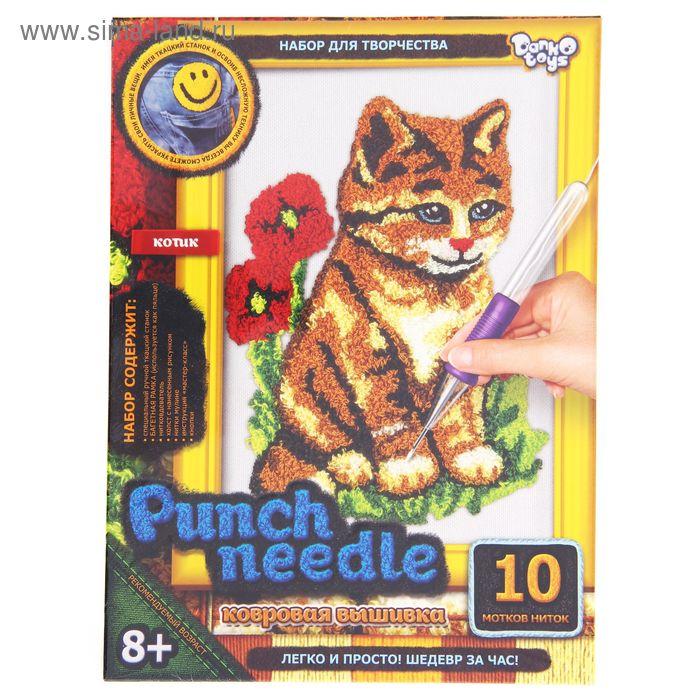"Ковровая вышивка ""Punch Needle. Кошка"""