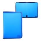 Папка пластик А4 молния вокруг Офис цветная песок Синяя