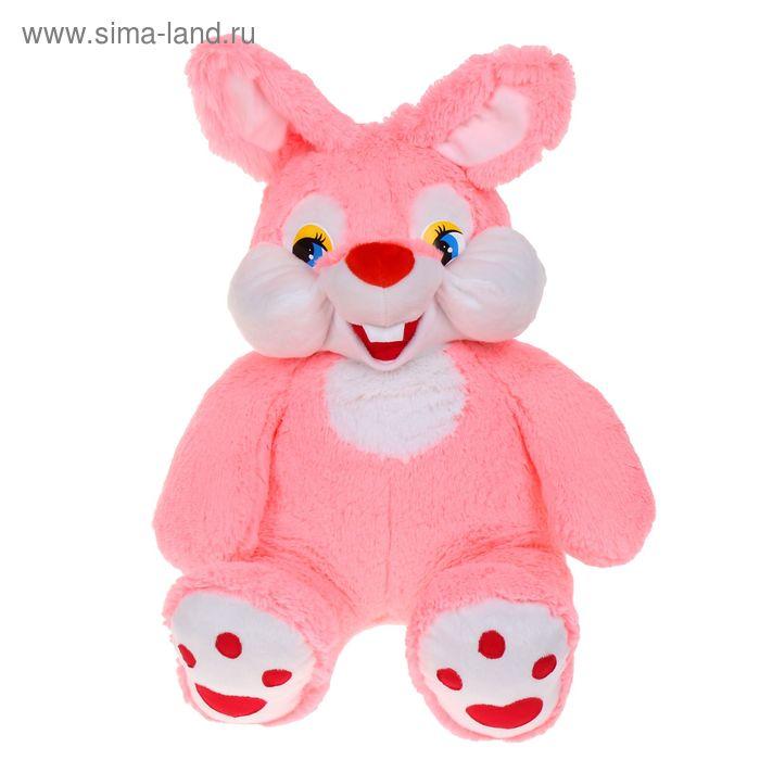 Мягкая игрушка «Зайка-зазнайка», цвет розовый