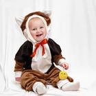 """Детский карнавальный комбинезон """"Котик"""" с игрушкой, велюр, рост 68-92 см"""
