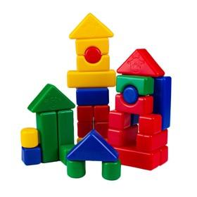 Building set, 4 x 4 cm, 38 elements
