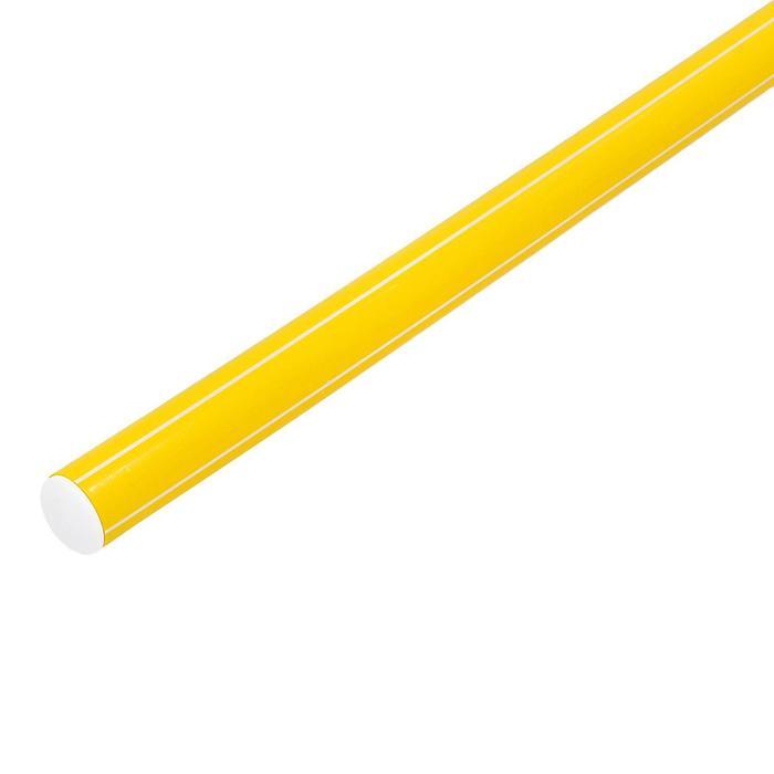 Палка гимнастическая 80 см, цвет жёлтый