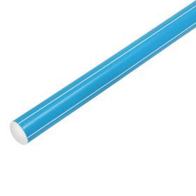 Палка гимнастическая 80 см, цвет голубой