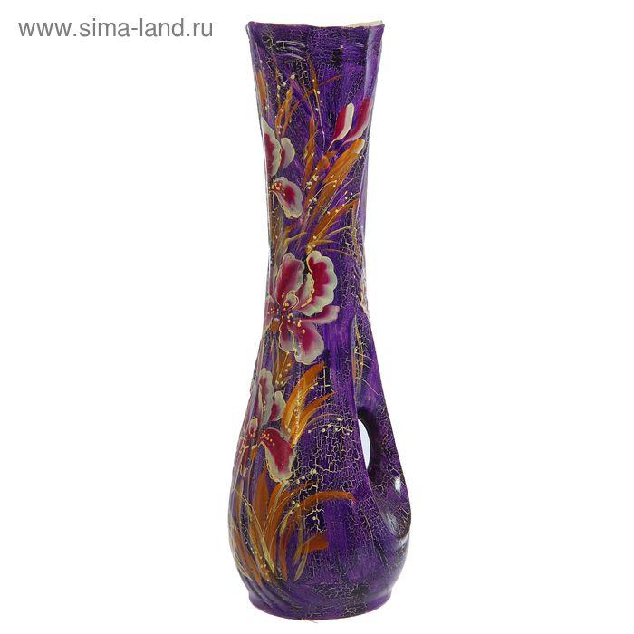 """Ваза напольная """"Кора"""" кракелюр, фиолетовая"""