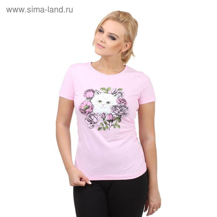 "Футболка Collorista ""Котенок"" р-р L(48), розовый"