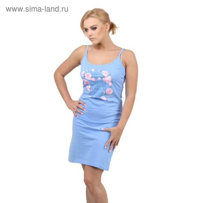 """Сорочка Collorista """"Расцветай"""" р-р L(48), голубой"""