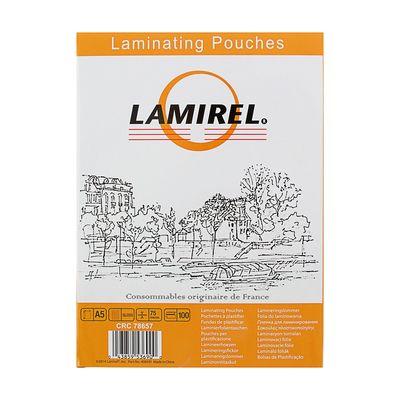 Пленка для ламинирования 100шт Lamirel А5, 75мкм