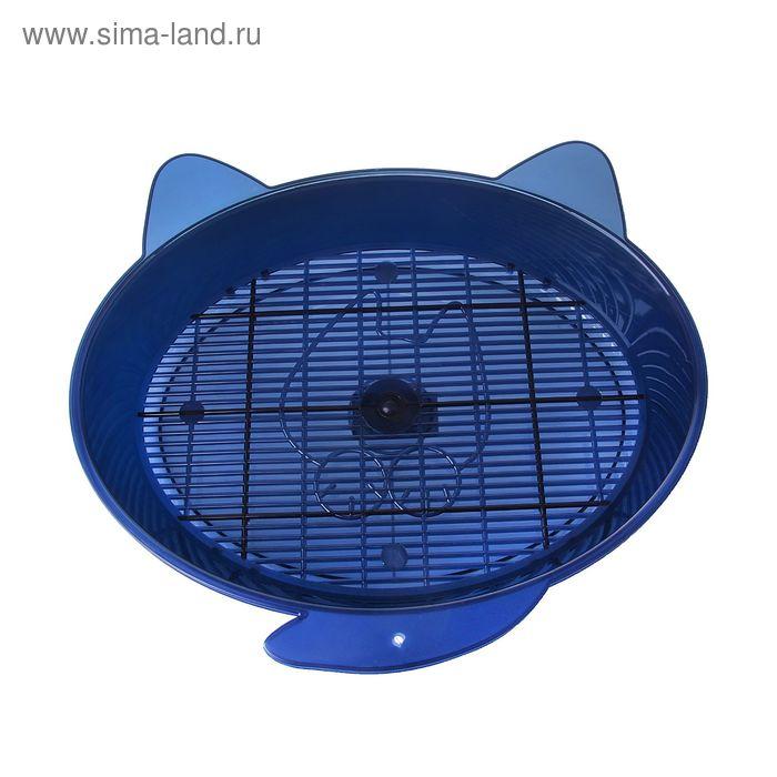 """Туалет """"Кошка с ушками"""" 36 х 34 х 6 см,синий"""