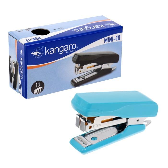 Степлер №10 10 листов Kangaro mini HS-Mini10, встроенный антистеплер, 50 скоб микс