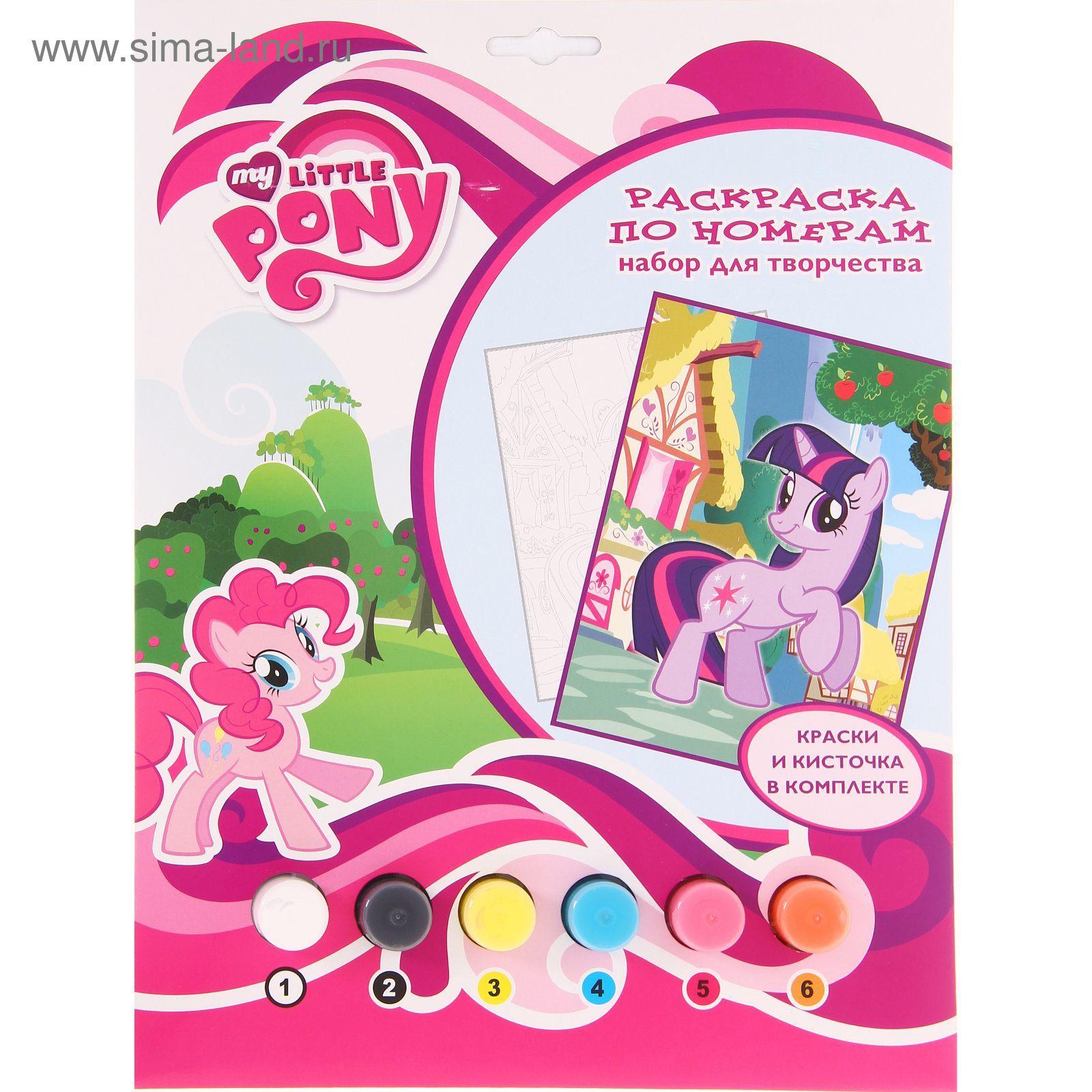 раскраска по номерам My Little Pony 1234593 купить по