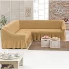 Чехол для мягкой мебели DO&CO KOSELIK, угловой диван 3-х местный, цвет медовый
