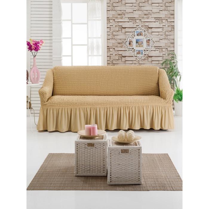 Чехол для мягкой мебели DO&CO DIVAN KILIFI на диван 3-х местный, цвет медовый