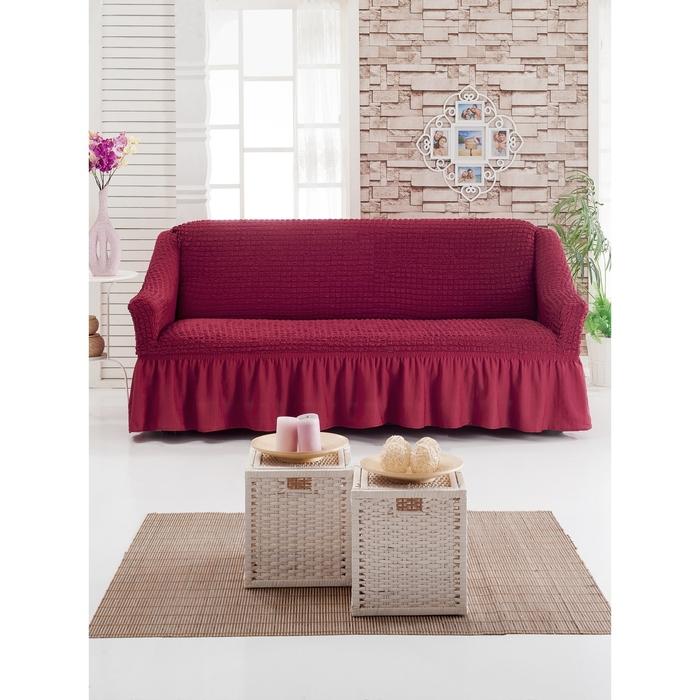 Чехол для мягкой мебели DO&CO DIVAN KILIFI на диван 3-х местный, цвет бордо