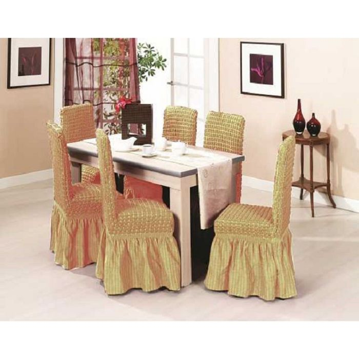 Набор чехлов на стулья DO&CO KOLTUK KILIFI - 6шт, цвет медовый