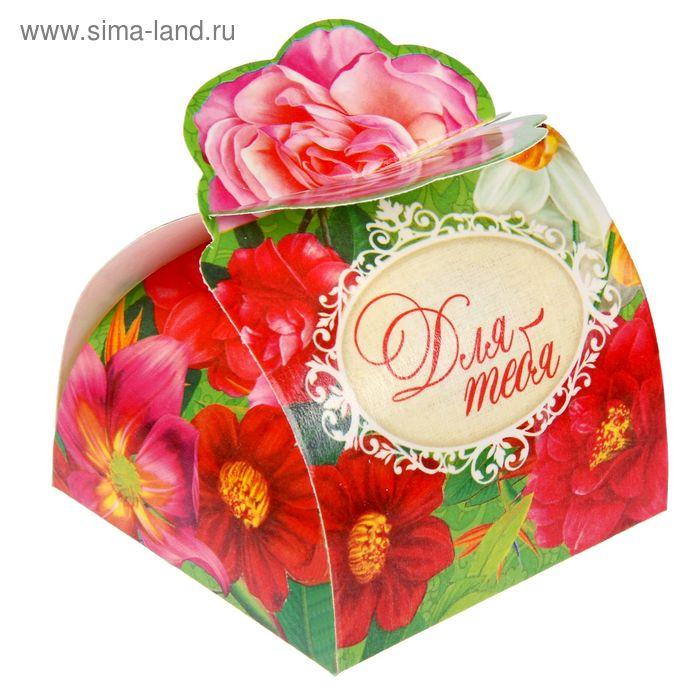"""Коробка складная мини""""Цветы""""6х6х4,8 см"""