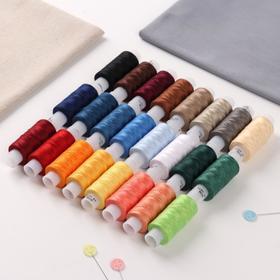 A set of threads 40LSH, 170 m, 24 pcs, MIX color.