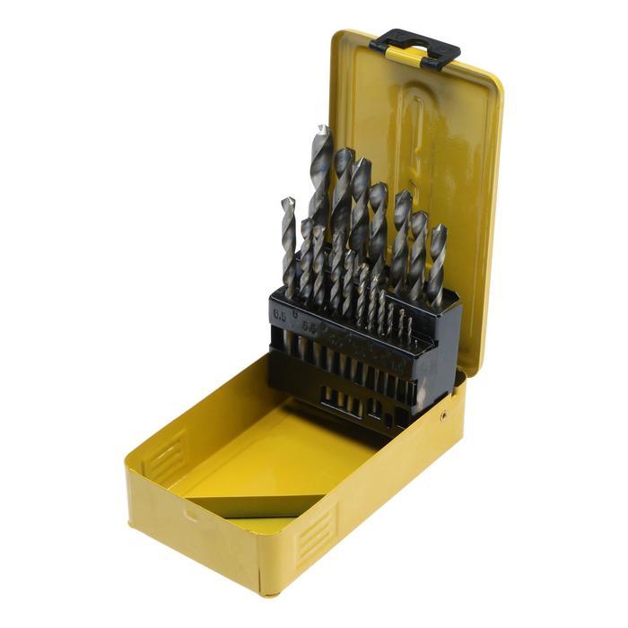 Набор сверл по металлу TUNDRA basic сталь HSS, 19 предметов, 1-10 мм. через 0,5 мм.