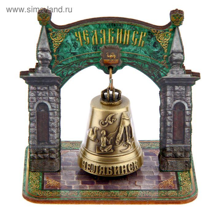 """Колокольчик в деревянной рамке """"Челябинск"""""""