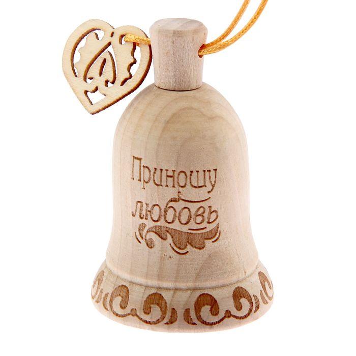 """Колокольчик дерево """"Приношу любовь"""", 5 х 7 см"""