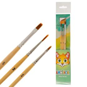 A set of brushes, 3 pieces,