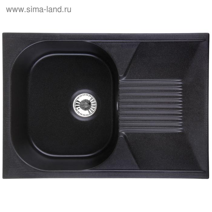 Мойка кухонная гранитная Granula 7002, чёрная