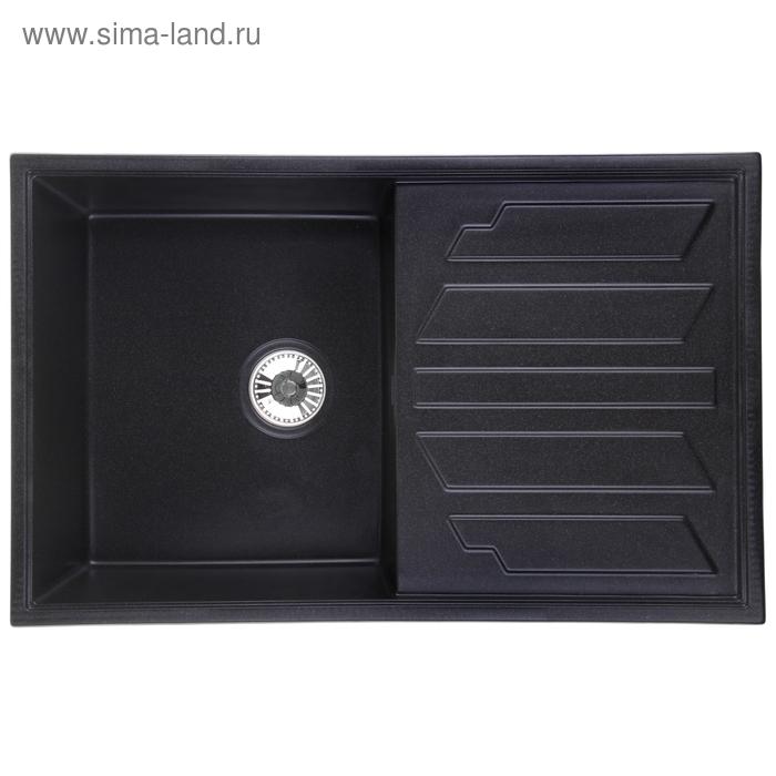 Мойка кухонная гранитная Granula 8002, чёрная