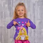 """Джемпер для девочки """"Barbie"""", рост 98 см (56), цвет фиолетовый ZG 03562-D1_Д"""