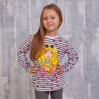 Джемпер для девочки Barbie, рост 98 см (56),  цвет белый/полоска ZG 03561-W1_Д