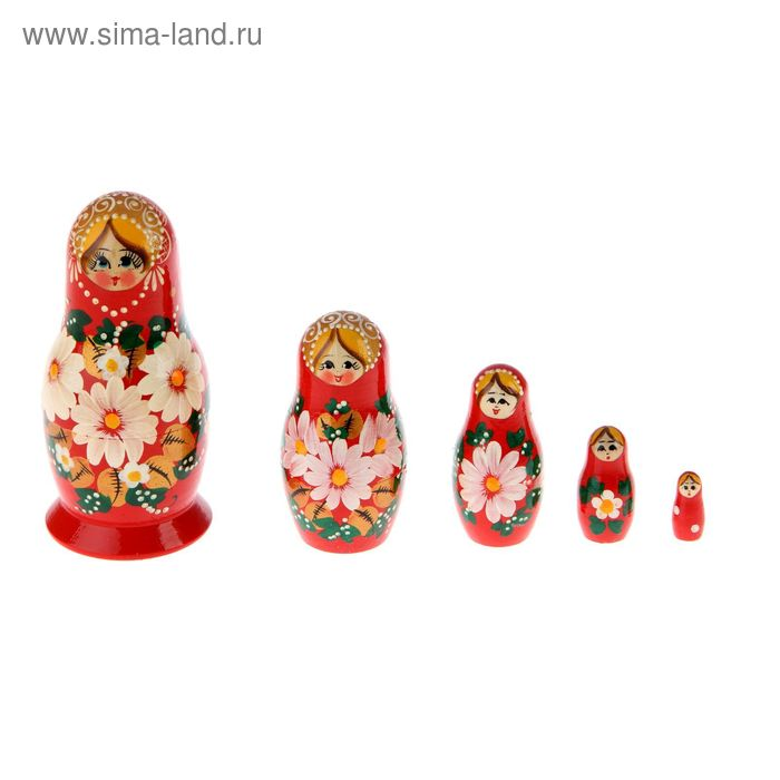 """Матрешка """"Вятка"""" 5 кукол, художественная роспись"""