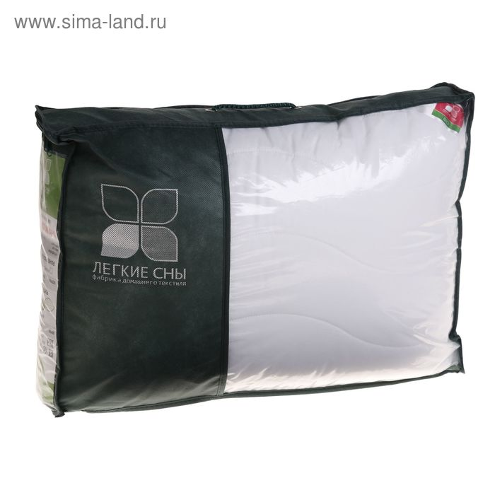 Подушка Тропикана средняя 50х68 см, бамбуковое волокно, микрофибра белый